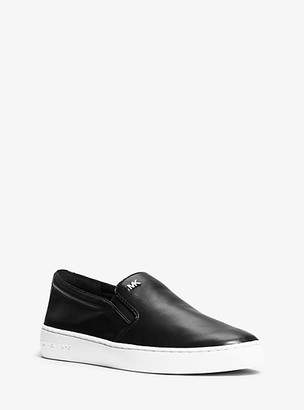 Michael Kors Keaton Leather Slip-On Sneaker