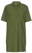 Equipment Major short-sleeved cotton mini dress
