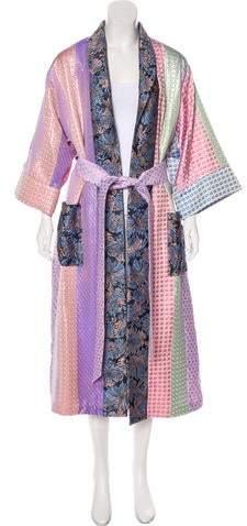 Natasha Zinko Patchwork Brocade Robe