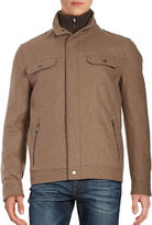 Michael Kors Wool-Blend Stand-Collar Jacket