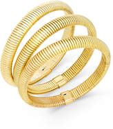 Thalia Sodi Gold-Tone Trio Set of Herringbone Stretch Bracelets, Created for Macy's