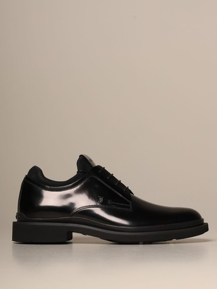 Tod's Derby In Brushed Leather With Neoprene Sock