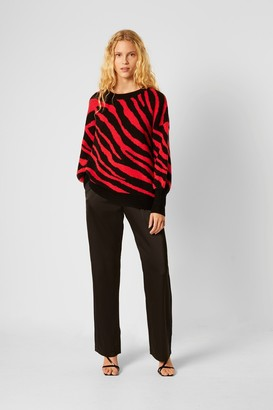 French Connection Tiger Jacquard Balloon Sleeve Jumper