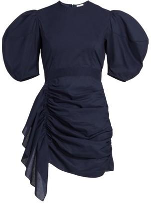 Rhode Resort Pia Puff-Sleeve Ruffle Mini Dress