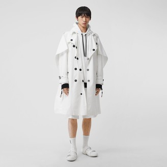 Burberry Cape Detail Technical Faille Reconstructed Trench Coat