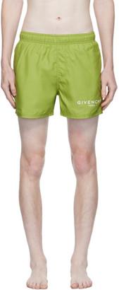Givenchy Green Logo Swim Shorts