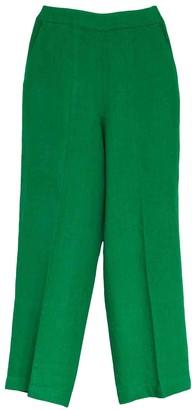 Whistles Green Linen Trousers for Women