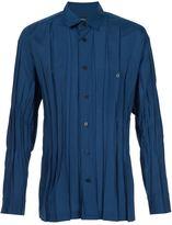 Issey Miyake creased effect shirt - men - Polyester - 4