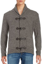 Black Brown 1826 Wool-Rich Toggle Cardigan