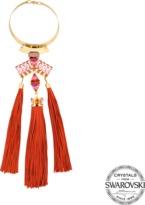 Helene Zubeldia Exclusive Mavia choker with lambskin fringes with Swarovski crystals