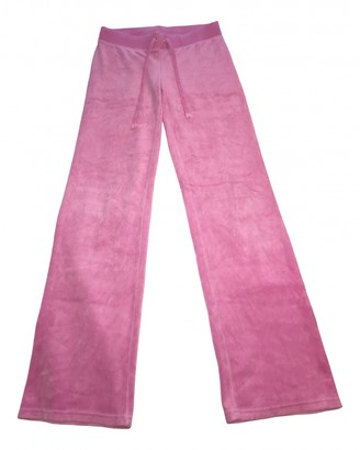 Juicy Couture Pink Velvet Trousers