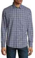 Zachary Prell Plaid Long-Sleeve Sport Shirt