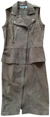Gerard Darel Beige Leather Dress for Women