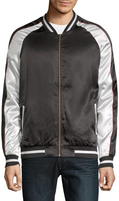 Standard Issue NYC Colorblock Satin Bomber Jacket