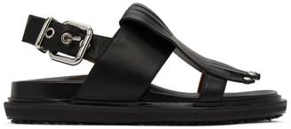 Marni Black Tassel Sandals