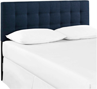 Lexmod Lily King Tufted Upholstered Fabric Headboard, Navy
