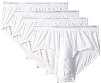 Jockey Breathable Mesh Cotton Classic Brief 4-Pack (White) Men's Underwear