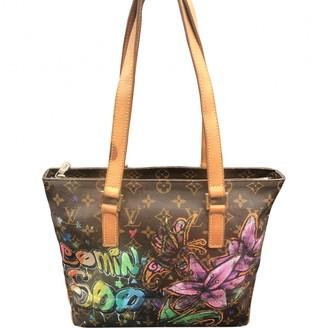 Louis Vuitton Piano Brown Cloth Handbags