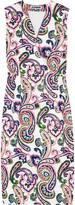 Lunetta paisley-print woven dress