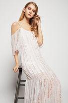 BCBGeneration Cold-Shoulder Maxi Dress