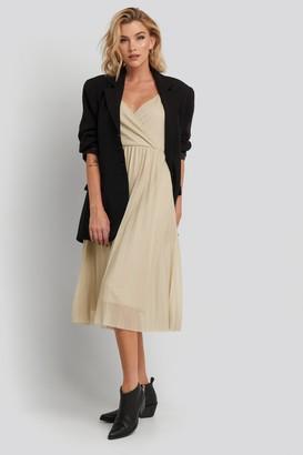 MANGO Lurik-X Dress Gold