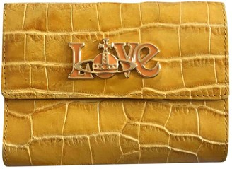 Vivienne Westwood Yellow Leather Wallets