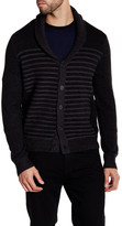 Kenneth Cole New York Striped Shawl Collar Sweater