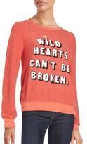 Wildfox Couture Wild Hearts Scoopneck Sweatshirt
