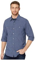 Royal Robbins Long Distance Traveler Long Sleeve Shirt (Deep Blue) Men's Long Sleeve Button Up
