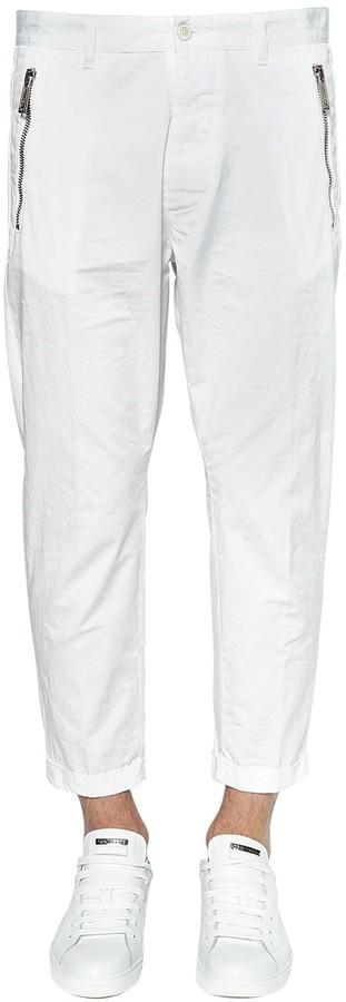 DSQUARED2 16cm Hockney Light Cotton Twill Pants