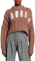 PARTOW Inga Cashmere Cutout Cable-Knit Sweater