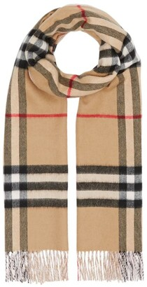 Burberry Cashmere Vintage Check Scarf