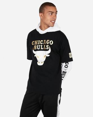 Express Chicago Bulls Nba Heavyweight Foil Graphic T-Shirt
