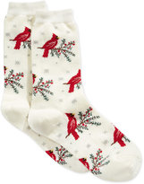 Charter Club Women's Cardinal & Snowflake Socks, Created for Macy's