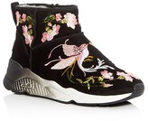 Ash Muse Embroidered Shearling Booties