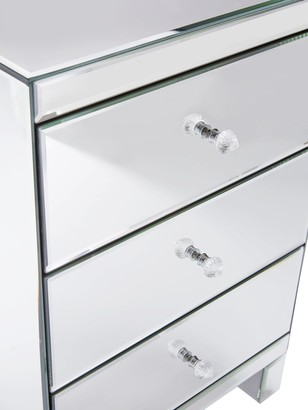 Parisian Mirrored 3 Drawer Ready Assembled Bedside Chest