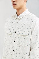 Urban Outfitters UO Ditsy Cross Print Flannel Button-Down Shirt