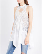 Free People Ladies Ultra Light Tell Tale Heart Lace Top