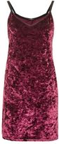 Topshop Crushed velvet slip dress