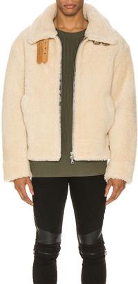 Amiri Oversized Shearling Jacket in Natural | FWRD