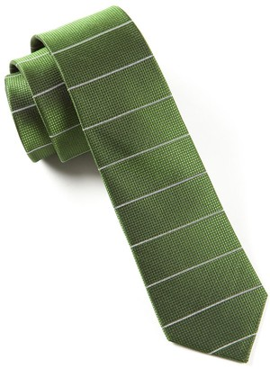 Tie Bar Institute Stripe Green Tie