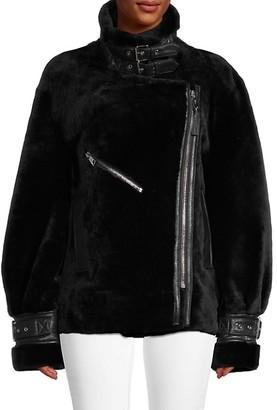 Nicole Benisti Greenwich Shearling Moto Jacket