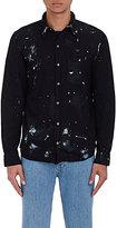 NSF Men's Axel Paint-Splatter Shirt-BLACK