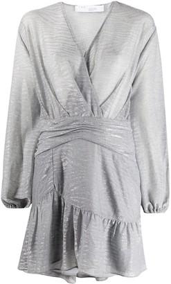 IRO Gesta metallic mini dress