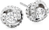 JCPenney FINE JEWELRY 1/2 CT. T.W. Diamond Spiral 10K White Gold Stud Earrings