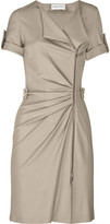 Zipped stretch-crepe dress