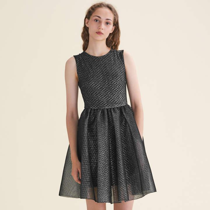 Maje Tulle and Lurex sleeveless dress