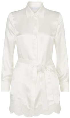 Carine Gilson Silk Button-Down Robe