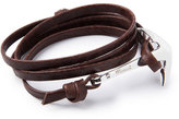 Miansai Men's Anchor Leather Bracelet, Mojave