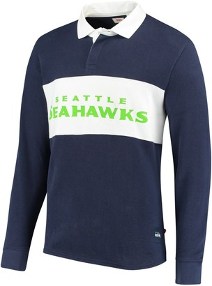 Levi's Men's College Navy Seattle Seahawks Rugby Long Sleeve Polo